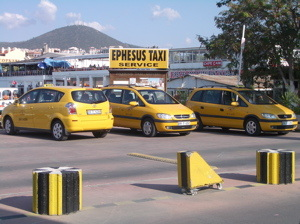 Taxis at the Port of Kusadasi