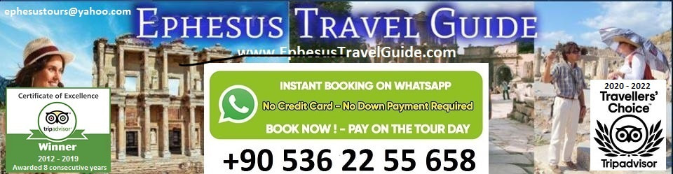 Private Tours of Ephesus and Western Turkey with local licensed tour guides.