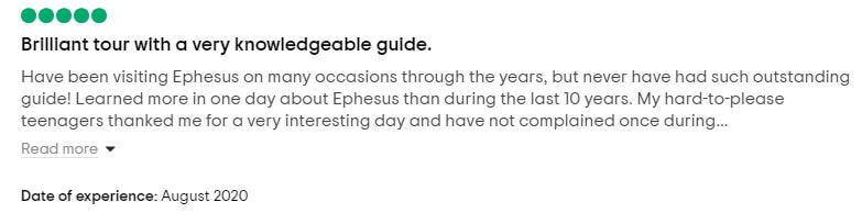 Ephesus Tour Guide Review