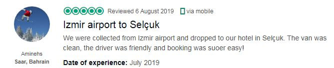 izmir airport private transfer to selcuk review